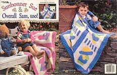 Leisure Arts Sunbonnet Sue & Overall Sam,Too afghans to crochet
