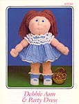 Annie's Attic Debbie Ann & Party Dress crocheted soft sculpture doll pattern.