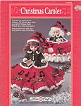 "Christmas Caroler Musical Pillow Doll or dress for 13"" bed doll."
