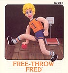 Annie's Attic Free-Throw Fred soft sculpture basketball player.