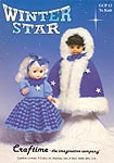Craftime Winter Star outfit to KNIT for 13 inch dolls