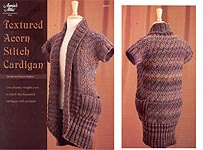 Annie's Attic KNIT Textured Acorn Stitch Cardigan