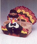 Mary Maxim KNIT Turkey Basket