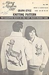Mary Maxim Graph- Style Knitting Pattern No. 599: Men's Cardigan (Deer)