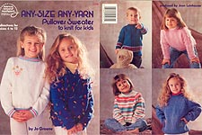 ASN Any- Size Any- Yarn Pullover Sweater to KNIT for Kids