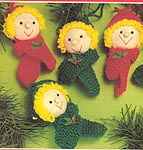 Mary Maxim KNITTED Soft Sculpture Christmas Ornaments
