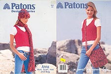 Patons Design Series: Anna Vest, Scarf, Hat, and Bag
