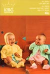 KNIT King Patterns No. 2029: Lacy Baby Set & Circular Yoke Baby Jacket
