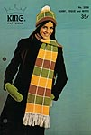 KNIT King Patterns No. 2036: Scarf, Toque, and Mitts
