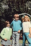KNIT King Patterns No. 2053: Children's Cardigans & Pullovers