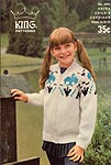 KNIT King Patterns No. 4001: Haida Child's Cardigan