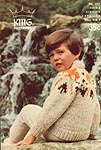 KNIT King Patterns No. 5001: Haida Kiddies' Cardigan