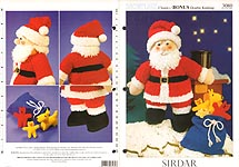 Sirdar 3080: Father Christmas Toy