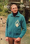KNIT King Patterns No. 1100: Man's Cardigan