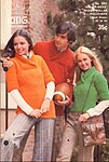 KNIT King Patterns No. 2061: His or Hers Shawl Collar Pullovers