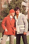 KNIT King Patterns No. 2062: His or Hers Wrap Stye Jacket & Hat