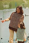 KNIT King Patterns No. 2069: Knitted Poncho Capes