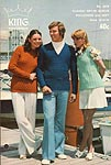 KNIT King Patterns No. 2076: Classic Set- In Sleeve Pullovers and Vest