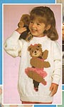 Mary Maxim KNIT Dancing Teddy Sweater