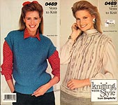 Knitting With Style from Simplicity #0469: Vests to Knit