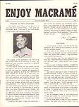 Enjoy Macram� Vol. 1 No. 1, July/ August 1977