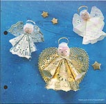 Aleene's Big Book of Crafts Christmas Fun Card 3: Paper Lace Angels