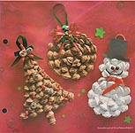 Aleene's Big Book of Crafts Christmas Fun Card 5: Pinecone Ornaments
