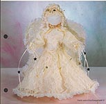 Aleene's Big Book of Crafts Christmas Fun Card 15: Lacy Angel