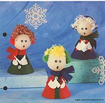 Aleene's Big Book of Crafts Christmas Fun Card 19: Cozy Carolers