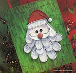Aleene's Big Book of Crafts Christmas Fun Card 27: Paper- Mache Santa Picture