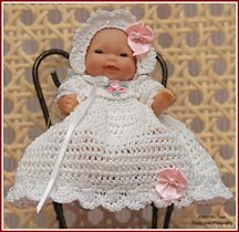 Myrande's Christening set for 5 inch or 7.5 inch baby dolls.