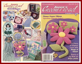 Cover of Annie's Crochet To Go, March 2001