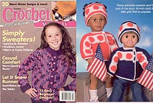 Cover of Feb 06 issue of Crochet World