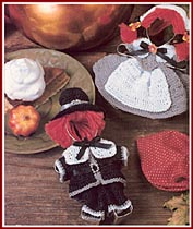 Pilgrim Cookie Cutter dolls from Annie Potter Presents' Seasons of Crochet