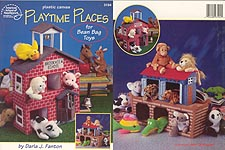Plastic Canvas Playtime Places for Bean Bag Toys: Schoolhouse and Noahs Ark