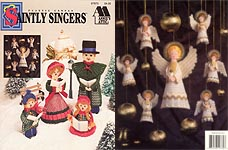 Plastic Canvas Saintly Singers carolers and angels.