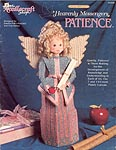 Plastic Canvas Patience angel from the Needlecraft Shop Heavenly Messenger series.