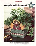Angels All Around Us plastic canvas needlepoint pattern card.