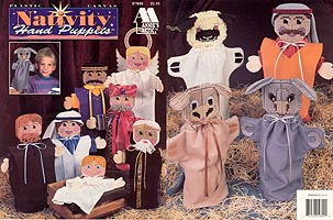 Plastic Canvas Nativity Puppets