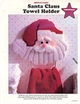 Plastic Canvas Santa Towel Holder