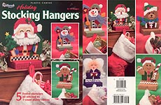 Plastic Canvas Holiday Stocking Hangers from The Needlecraft Shop