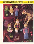 Annie's Int'l Plaxtic Canvas Club Victorian Boy Ornaments