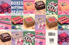 ASN Plastic Canvas Boxes with Buttons & Beads