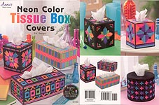 Annie's Plastic Canvas Neon Color Tissue Box Covers