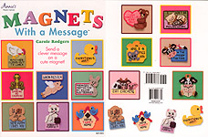 Annie's Plastic Canvas Magnets With A Message