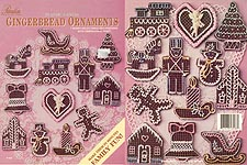 Paradise Pub. Plastic Canvas Gingerbread Ornaments