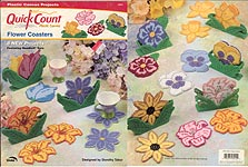TNS Quick Count Plastic Canvas Flower Coasters
