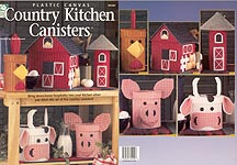 HWB Plastic Canvas Country Kitchen Canisters
