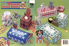 Annie's Attic Plastic Canvas Holiday Hounds Tissue Boxes