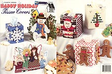 Annie's Attic Plastic Canvas Happy Holiday Tissue Covers